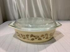 Pyrex 045 Golden Acorn 2.5 Qt Casserole Dish with Lid