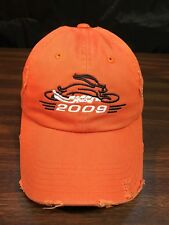 2009 Blaze Orange Rabbit Run Motorcycle Hat Marysville CA Harley Davidson Cap