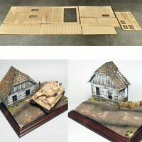 1:35 Europäisches Holzhaus No.2 Battlefield Kit Military 3D Modell Scenario DIY