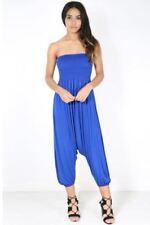 Pantaloni da donna blu in poliestere taglia S