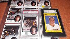 1985 DULUTH BULLDOGS SET (36)w/ BRETT HULL PSA 9 + 1989 KODAK BRETT HULL SGC NHL
