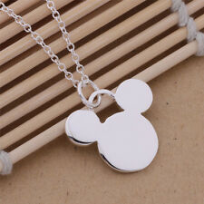 AN232 Free shipping Fashion Lovely Mini Mickey solid silver Necklace + gift bag