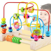 Wooden First Circle Bead Maze Roller Coaster Toy for Kids Play Baby Toy BMY