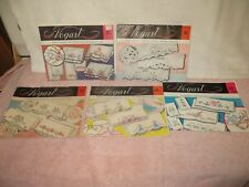 5 Vtg Vogart Hot Iron Embroidery Transfers - Pillowcases - c
