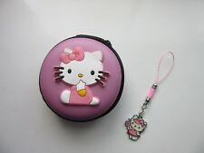 Hello Kitty Écouteur Case Purse Coin Support Aide Auditive Téléphone mobile charme