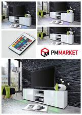 Modern TV Unit stand 160cm Cabinet High Gloss TV Entertainment led lights DISCO