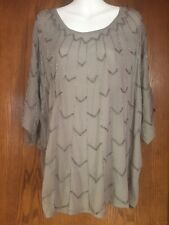 Romeo & Juliet Couture Silver Gray Beaded Kimono Top NWT M