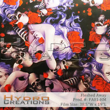 """HYDROGRAPHIC FILM HYDRO DIPPING WATER TRANSFER FILM FLESHED AWAY - 38.5"""" x 19"""""""