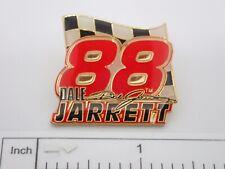 Dale Jarrett 88 NASCAR Checkerd Flag Vintage Enamel Lapel Pin