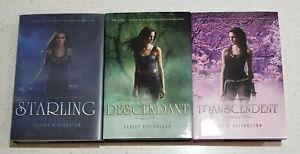 Starling Descendant Transcendent by Lesley Livingston Starling Trilogy Set HB