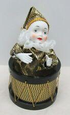 """Vintage Music Box - Ceramic Clown in Drum plays """"Feelings"""""""