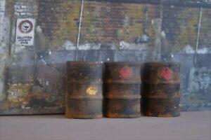 1/18 old Rusty dusty Fuel Barrels (3) Shop Garage Diorama from Austin's Garage