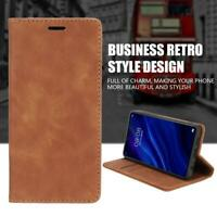 Business Style TPU Leather Flip Type Phone Case with 3 Card Slots for Huawei P30