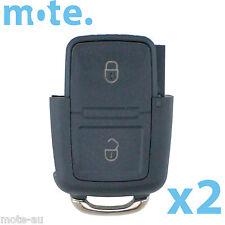 2 x Volkswagen VW Passat Jetta 2 Button Remote Key Bottom Shell/Case/Enclosure