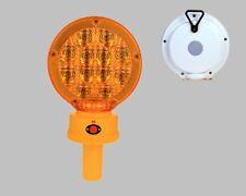 """BL12LHS AMBER Type B LED Barricade Light w/ Photocell 3VDC 2xD 7"""" Poly Lens"""