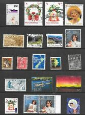 NEW ZEALAND PAGE OF 20 SOUND USED STAMPS;EARLY AND DECIMAL.