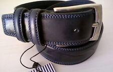 Cintura uomo Renato Balestra COLORE BLU SCURO con impunture blu chiare mis.115cm