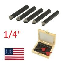 "5 pc 1/4"" Indexable Carbide C6 Insert Tool Bit & Holder Mini Lathe Set"