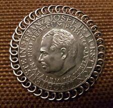 Medaille Franz Josef II. von Liechtenstein 900er Silber als schöne Brosche