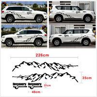 2 Pcs Car SUV Body Door Mountain Graphics Styling Vinyl Decal Decorative Sticker