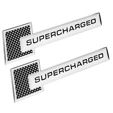2x Metal Auto Car SUPERCHARGED Emblems Badge Decal Sticker For Racing VW Audi