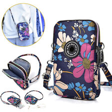 Women Floral Cross Body Shoulder Bag Cell Phone Pouch Bag Purse Wallet 67UK