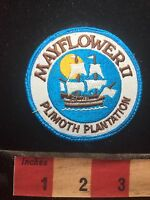 Vtg MAYFLOWER PLIMOUTH PLANTATION Massachusetts Patch Living History Museum 75WT