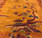 AN ATTRACTIVE COLOR COMBINATION ART DECO CHINESE RUG