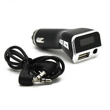 Car MP3 Player FM Transmitter Cigarette Lighter Car Charger LCD Display AUX New