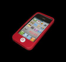 NEW MAROON RED SILICONE RUBBER GEL APPLE IPHONE 4 4S CASE BUY ONE GET ONE FREE