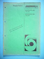 manuels de réparation pour Bang & OLUFSEN BEOCENTER 1500 (2603), 1600, original