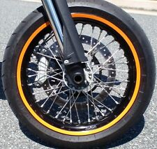 BRIGHT ORANGE KTM RIM STRIPES WHEEL DECALS TAPE STICKERS RC8R 1190 1290 DUKE