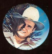 Gene Autry old full color portrait pin #d