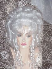 SIN CITY WIGS VICTORIAN CURLY BIG UP DO THICK CURLS TWIRLS WHITE CLASSIC ELEGANT