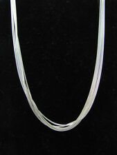 24 inch Multi Strand Snake Chain Necklace with Lobster Clasp Sterling Silver 925