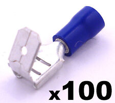 100x Insulated Blue Spade Piggyback Crimp Terminals- Electrical Feed or Splice