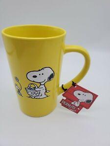 Snoopy Peanuts Charlie Brown & Friends 20oz. Ceramic Coffee Mug Cup easter