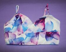 ALLY Brand Purple Digital Floral Print Bralet Top Size 6 BNWT #TG113