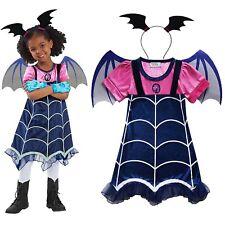 Disney Vampirina Girls Cosplay Dress Wing Headwear Party Fancy Dress Costume Lot