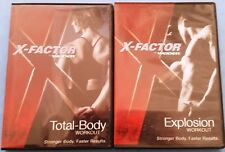 LOT Two DVDs X-FACTOR by WEIDER 2 DVD Set Total-Body + Explosion Workout