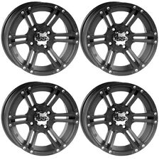 4 ATV/UTV Wheels Set 12in ITP SS212 Matte Black 4/110 5+2 IRS