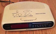 Sony Icf-C370 Clock Radio dream machine fm am clock radio