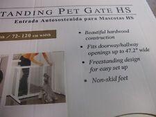 """RICHELL 94158 FREESTANDING DOG CHILD BABY SAFETY GATE 27.2"""" H WHITE 28""""-47.2"""" W"""
