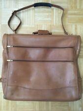 ETIENNE AIGNER Mens GARMENT BAG Brown Leather Travel Original Retail $1800 Rare!