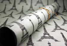 "Grey Eiffel Tower Pattern Handmade Paper -  Gift Wrap  20"" x 30"""