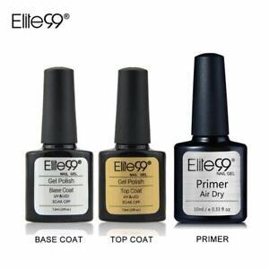 LOT Base NAIL Top Coat Semi Permanent Vernis à Ongles UV LED Primer Vernis gel