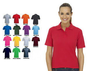 Ladies Lightweight Polo T Shirt Size 6 to 32 -  SPORT CASUAL & WORK POLO SHIRTS