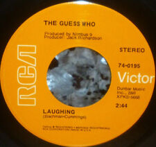 "*<* THE GUESS WHO's ""LAUGHING/UNDUN"": 1969 CLEAN M- 45 with TWO TOP 25 HITS!"