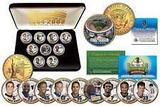 NY METS 2008 SHEA STADIUM FINAL SEASON 24K Gold Quarters 9-Coin Set + Bonus JFK