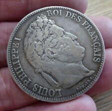 ORIGINAL 1832 SOLID SILVER 5 FRANCS COIN